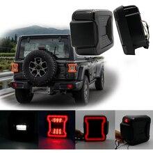 Jeep Wrangler için JL 2018 2019 Için Jeep Wrangler Arka Lambaları Füme LED park lambaları ile ABD Versiyonu