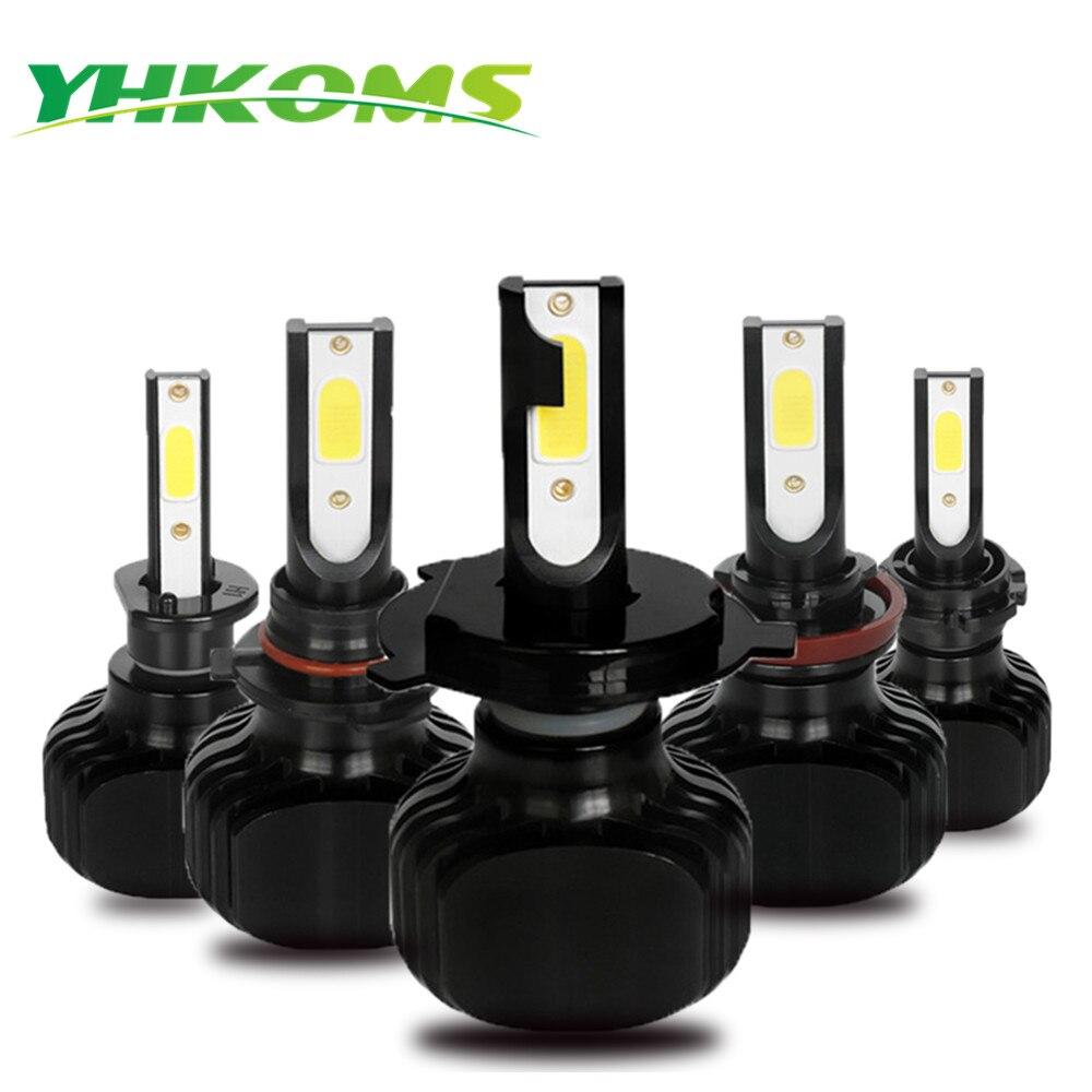 YHKOMS D1S D2S D3S D4S LED H1 H3 H4 H8 H9 H11 H13 H16 9005 HB3 9006 HB4 5202 880 881 H27 Voiture LED Ampoule 6000 K Blanc lumière