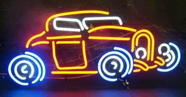 Custom Corvette Car Glass Neon Light Beer Bar 2