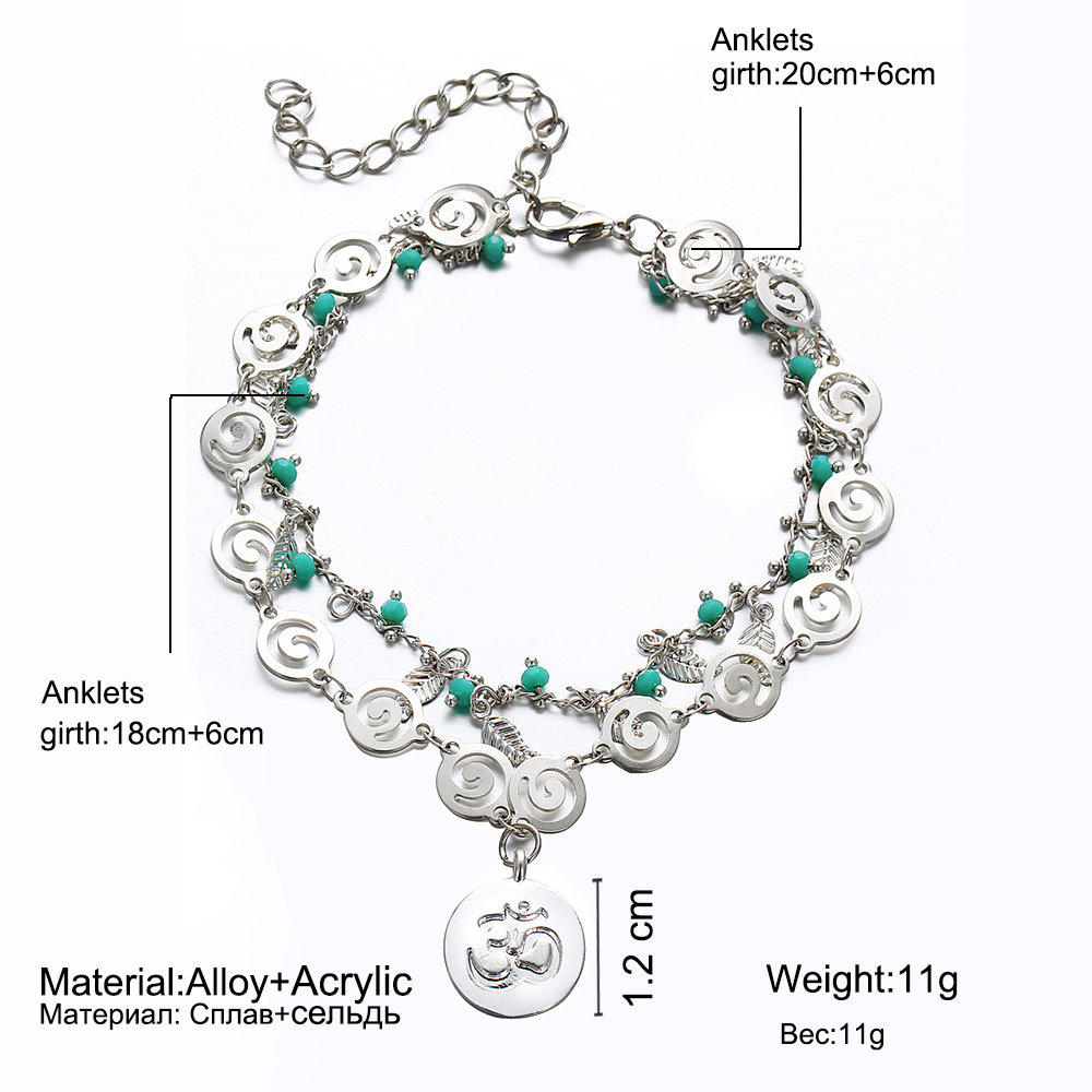 IF-ME-Bohemian-Multiple-Layers-Anklets-for-Women-Vintage-Silver-Color-Leaf-Beads-Pattern-Pendant-Foot (2)