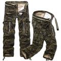 Moda Camuflaje Impreso Algodón de Los Hombres Sueltan Los Pantalones Holgados de Carga Militar Pantalones Tácticos Casuales hombres de Múltiples Bolsillos de Gran tamaño 40