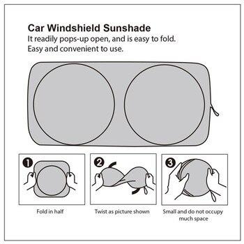 Car Front Windshield Sunshade For BMW F30 F10 F20 E60 E61 E91 E92 E93 F07 G30 X1 X3 X4 Protection Shield Visor Cover Accessories