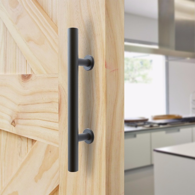 highquality black metal sliding barn door pull handle wood door handle
