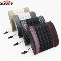 2016 New USB Massage Car Seat Cover Cool Massage Cushion Lumbar Back Brace Pillow Lumbar Cushion