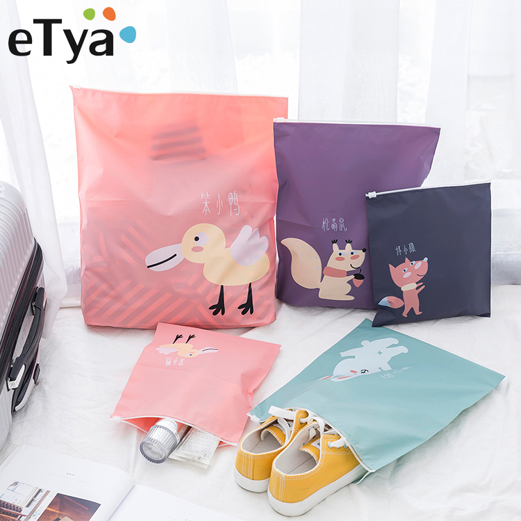 ETya Travel Organizer Portable Storage Pouch Bag Women Men Waterproof Shoes Clothing  Bags Drawstring Underwear Cosmetic Bags
