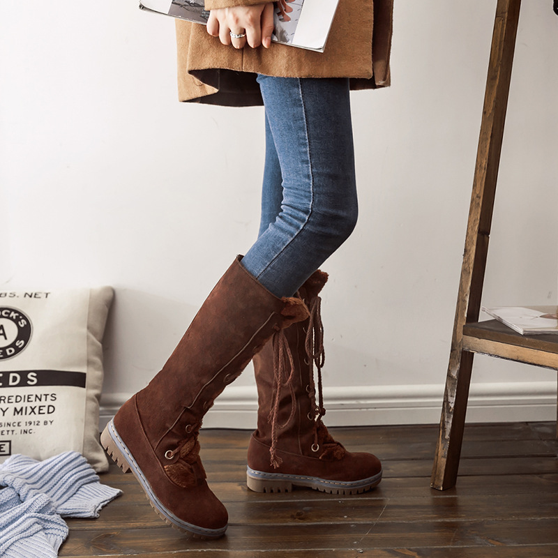e371a976c1f Knee High Boots Large Size 43 Autumn Women Fashion New Arrival Bow ...