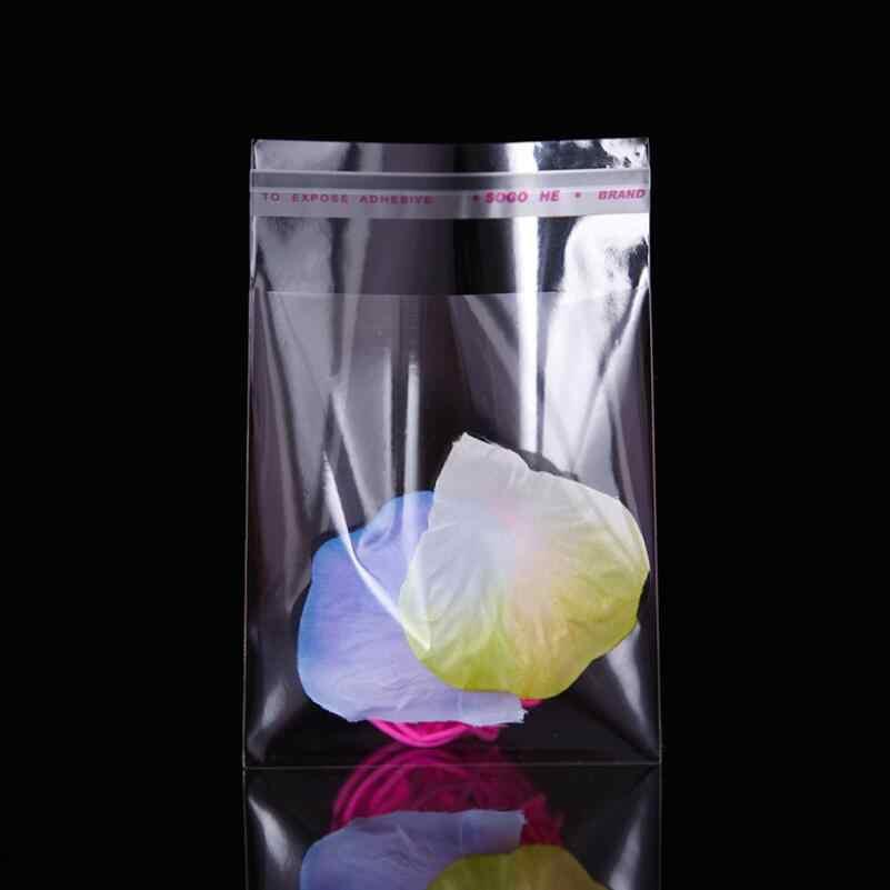 שקוף דבק עצמי חותם OPP פלסטיק שקיות מפלגת סוכריות קוקי מתנת אריזת תיק ברור צלופן תיק קטן שקית