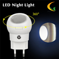 Control Auto baby room  LED night light  EU Plug 360 Degree Rotating night led light nightlight children's
