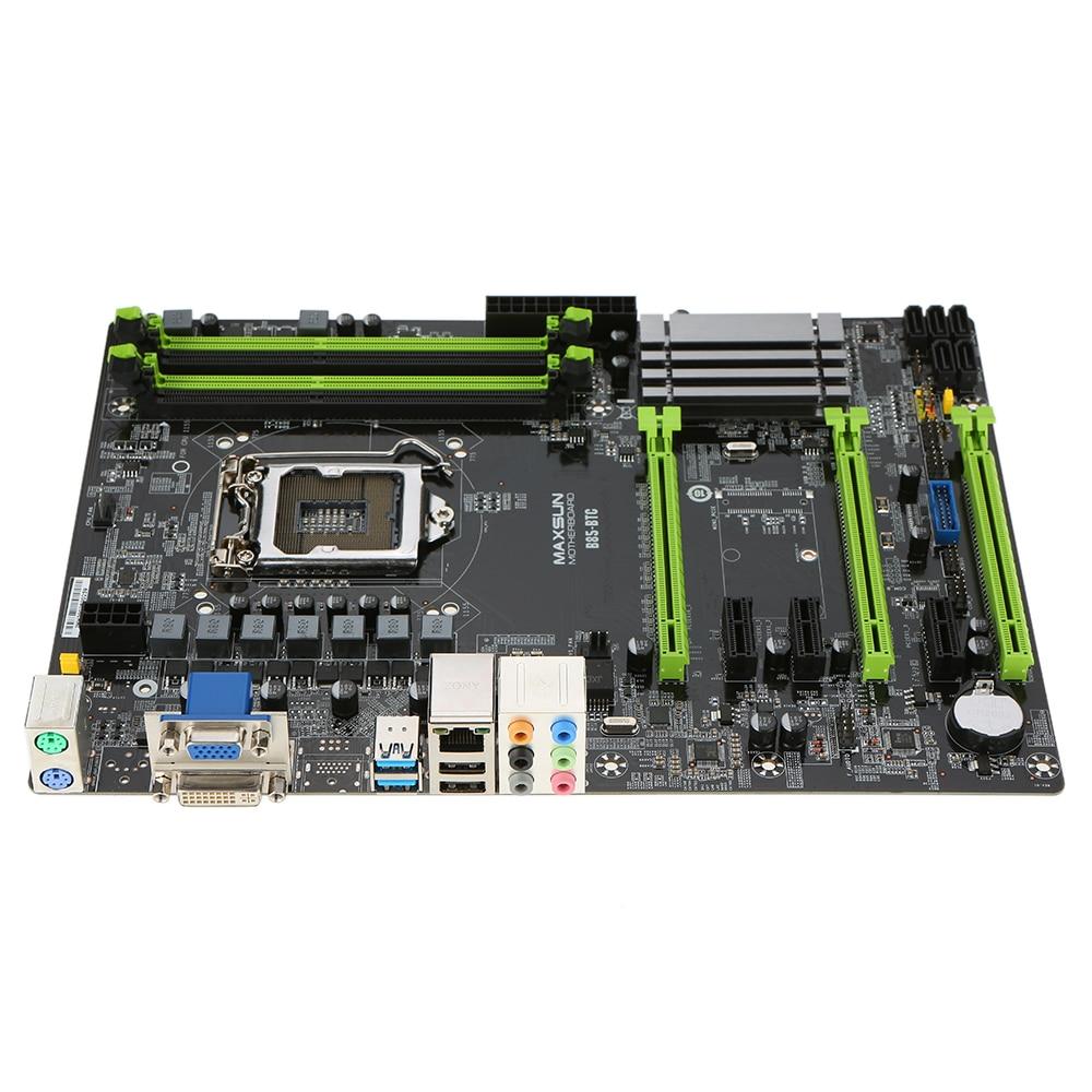 hight resolution of maxsun ms b85 btc motherboard systemboard para intel b85 lga1150 procesador socket ddr3 atx mainboard para miner a minero escritorio en placas base de