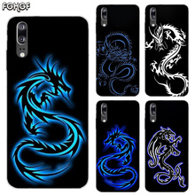 Beautiful Dragon Sketch Soft Silicone Phone Back Case For Huawei P20 P30 P8 P9 P10 lite Pro Plus P Smart + TPU Cover