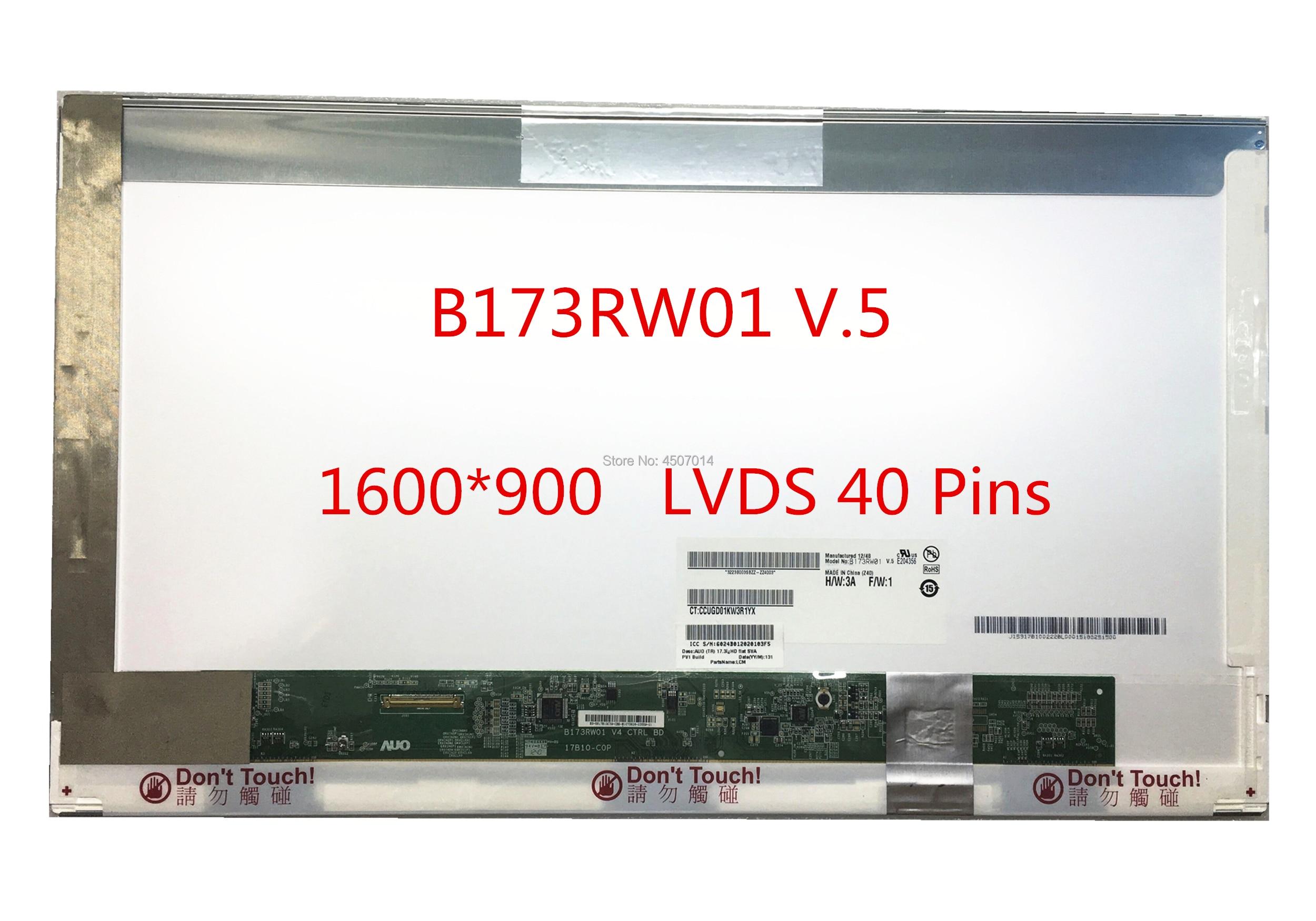 Free shipping B173RW01 V.5 V5 B173RW01 V.1 N173FGE-L13 B173RTN01.2 LP173WD1-TLC1 TLE1 TLF1 Laptop Lcd Screen 1600*900 40 PinsFree shipping B173RW01 V.5 V5 B173RW01 V.1 N173FGE-L13 B173RTN01.2 LP173WD1-TLC1 TLE1 TLF1 Laptop Lcd Screen 1600*900 40 Pins