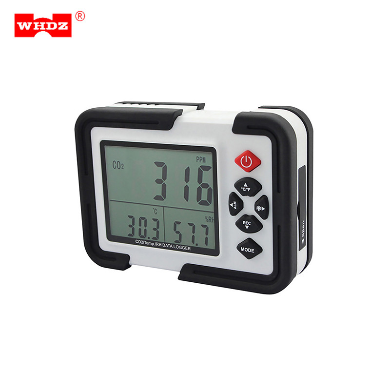 HT-2000 Digital CO2 Meter CO2 Monitor Detector Gas Analyzer 9999ppm CO2 Analyzers Temperature Relative Humidity Testing