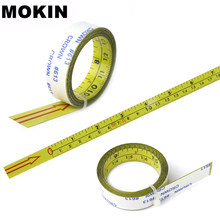 Self Adhesive Tape Measure Inch&Metric Miter Saw Scale Measuring Tape For T-track Router Table Saw Woodworking Tools(China)