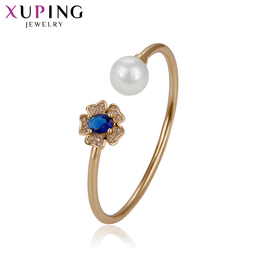 Xuping Fashion Gold Color Plated Temperament Bangle New Arrival High Quality Flower Jewelry Women Gift For Party S72,3-51720 Evident Effect Back To Search Resultsjewelry & Accessories