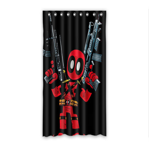 Aliexpress.com : Buy Bed Funny DeadPool 50x96 window Curtains ...