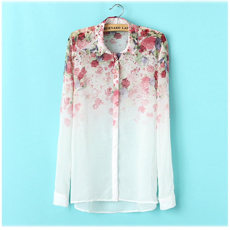 Aliexpress.com : Buy White See Through Women Loose Button Down ...