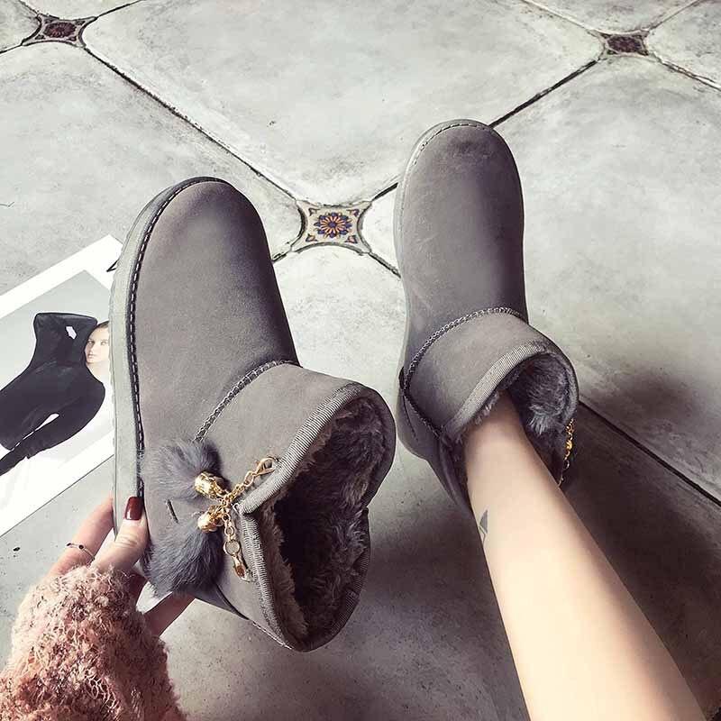 Bébé 3 Botines En 1 Style 2 Botas Marques Coréenne Bottes Mujer 2018 Coton Chaussures Véritable Peluche Hiver Femmes Les Chaussette Snowboots Femme 61Fqxaf