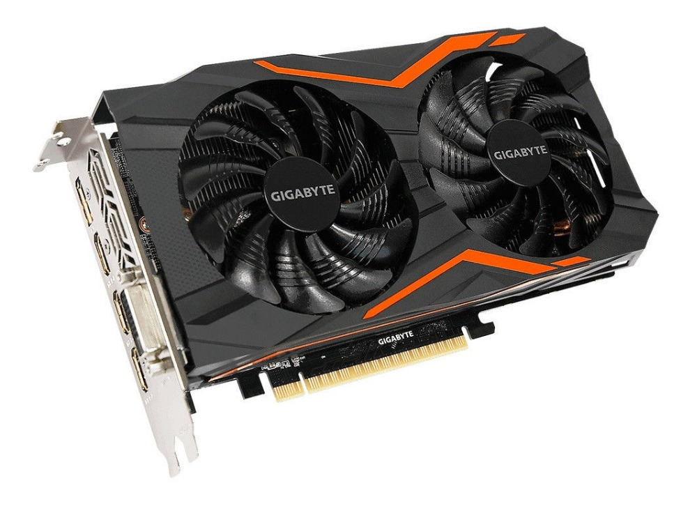 Used,GIGABYTE Video Card GTX 1050 Ti 4GB 128Bit GDDR5 Graphics Cards for nVIDIA VGA Cards image