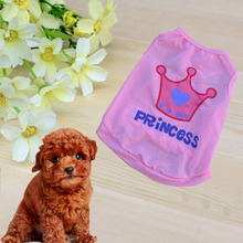 Pet Clothes Princess Crown Vest Sleeveless
