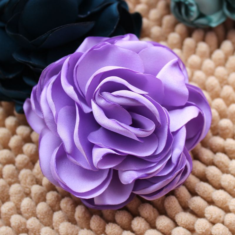 50pcs 3.5 Burned Satin Flowers,Kids Handmade Singed Flowers For ladies Wedding Dress/Hai ...