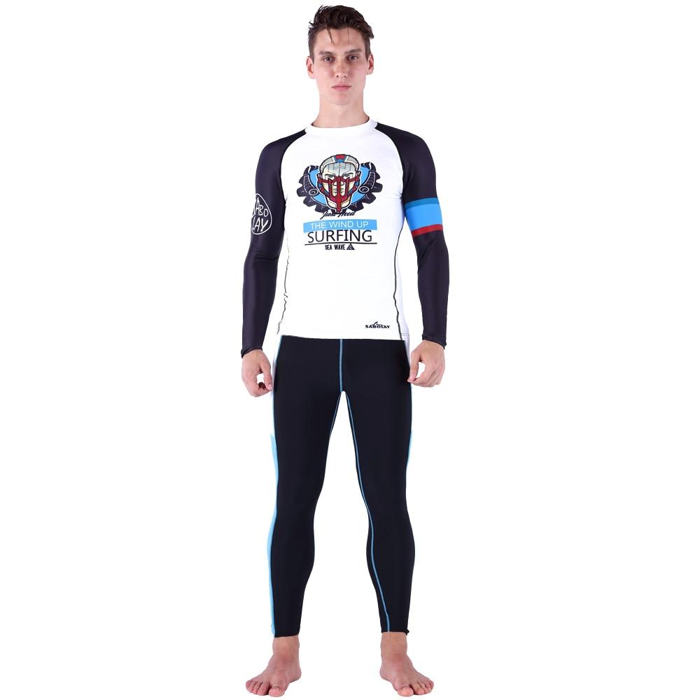 Two piece plus size wetsuit bandage  swim S M L XL rash guards for men bikinis man swimwear 2017 bodysuit swimwear