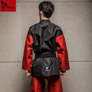 Image 3 - Doboks 5 étoiles, vêtements dentraîneur Taekwondo adultes, vêtements à manches longues, design noir et rouge, uniformes taekwondo adultes