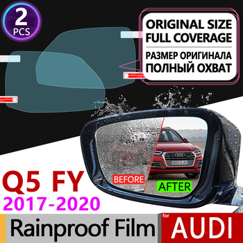 for Audi Q5 II 2017 2018 2019 2020 FY Full Cover Anti Fog Film Rearview Mirror Rainproof Foils Clear Anti-Fog Films Accessories image