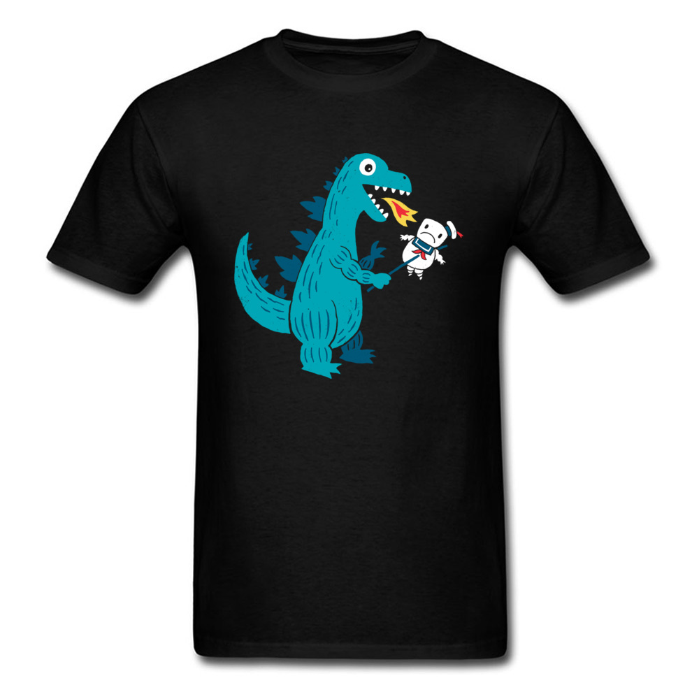 Crewneck Mens T Shirt 100% Cotton Funny Cartoon Printing Tshirt Video Dinosaur Puppet T-Shirt Summer Fashion Tops Tees