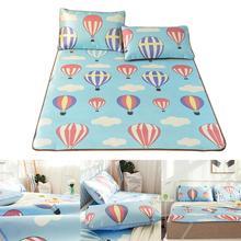 3D милая крутая кровать коврик Печатный горячий воздушный шар коврик летняя Складная охлаждающая накладка на подушку Современное украшение для спальни прохладное ощущение