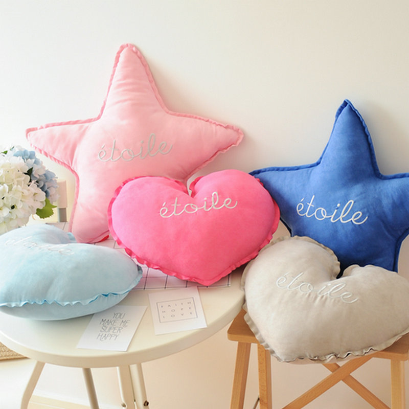 Ctue Star plush Toys Heart Faux Doll Soft pillow Cushion birthday gift for Children iny Tots Room Decor 40/50cm mymei pokemon pokeball go ultra soft pillow decor pillow soft plush doll