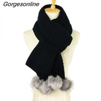 Hot Selling Gorgeous Design Lady Winter Acrylic Knitted Scarf Solid Color Women Wrap Shawl Faux Rabbit