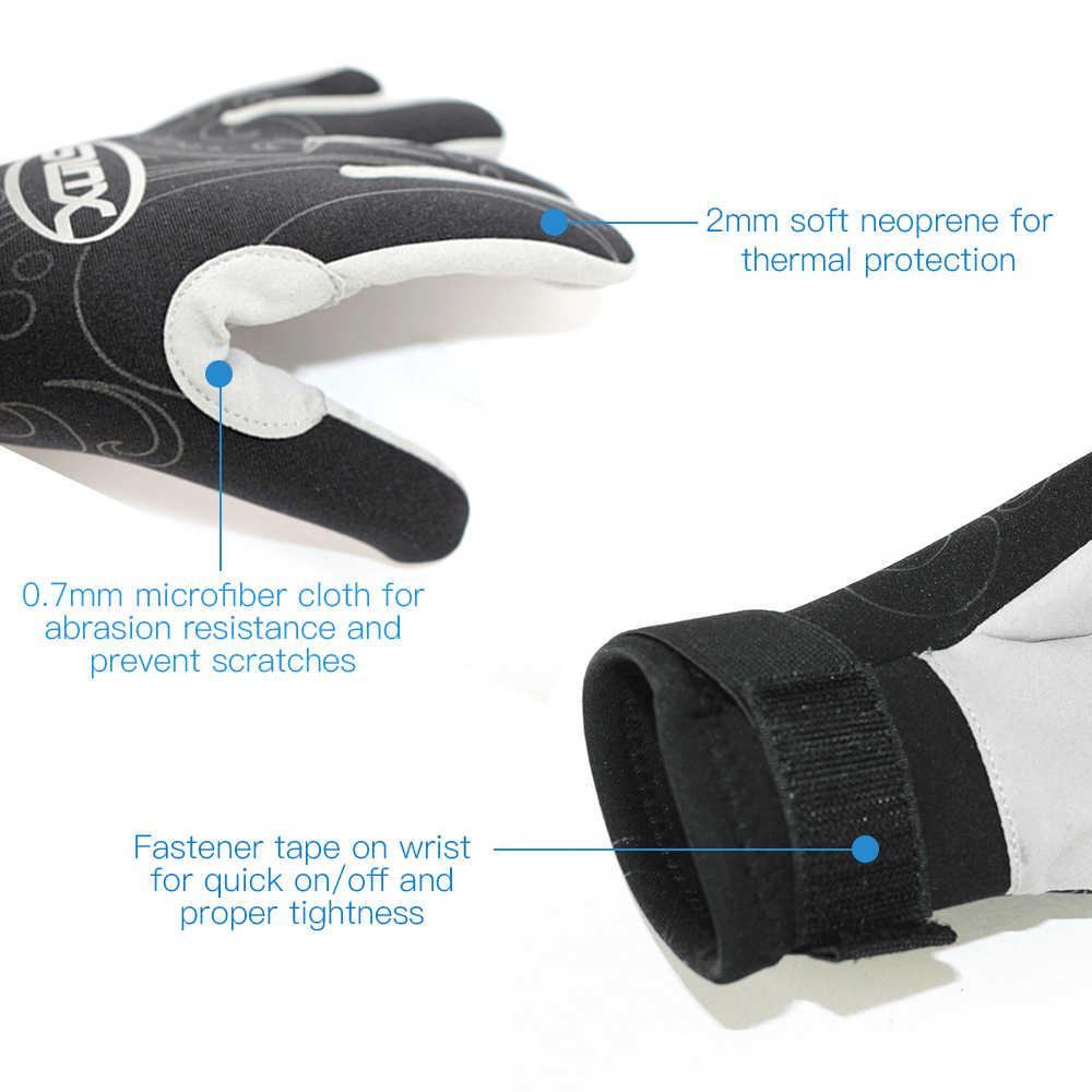 Sarung Tangan Menyelam 2 Mm Neoprene Wetsuit Sarung Tangan Hangat Snorkeling Berselancar Kayak Sarung Tangan Memakai Lima Jari Sarung Tangan