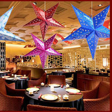 Romantic Xmas String Hanging Charm Star Party Decoration Christmas Tree Ornament 2018 Merry Christmas tree star shape decor NEW(China)