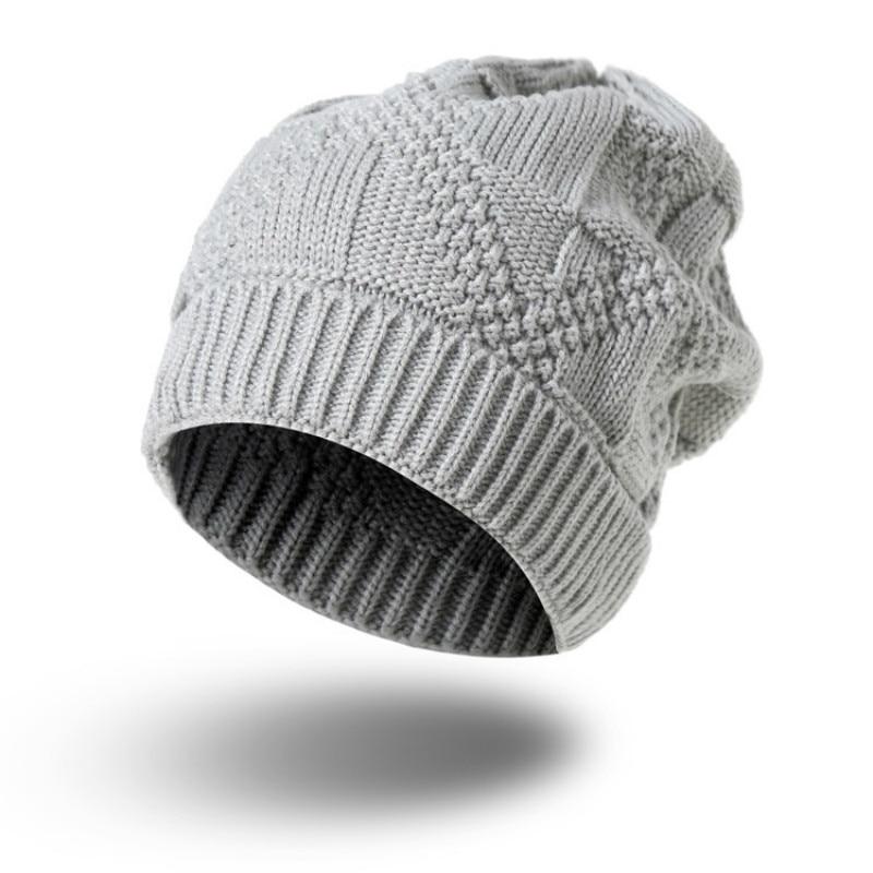 Solid Red Black Grey Mens Womens Winter Hats Skullies Beanies for Male Female Knitted Acrylic Skull Cap Skullcap Headgear skullies