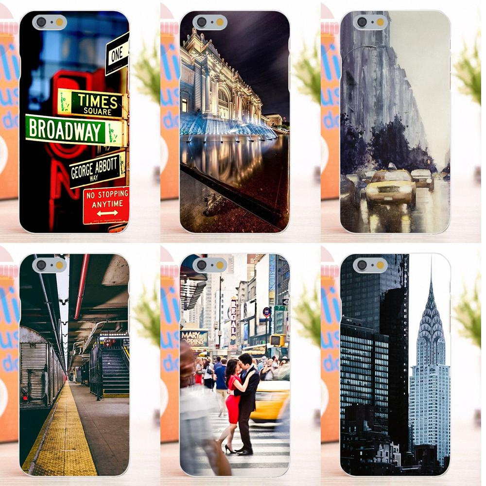 EJGROUP For Apple iPhone 4 4S 5 5S 5C SE 6 6S 7 8 X Plus Soft Silicone TPU Transparent Phone Covers Case Art I Heart Ny City
