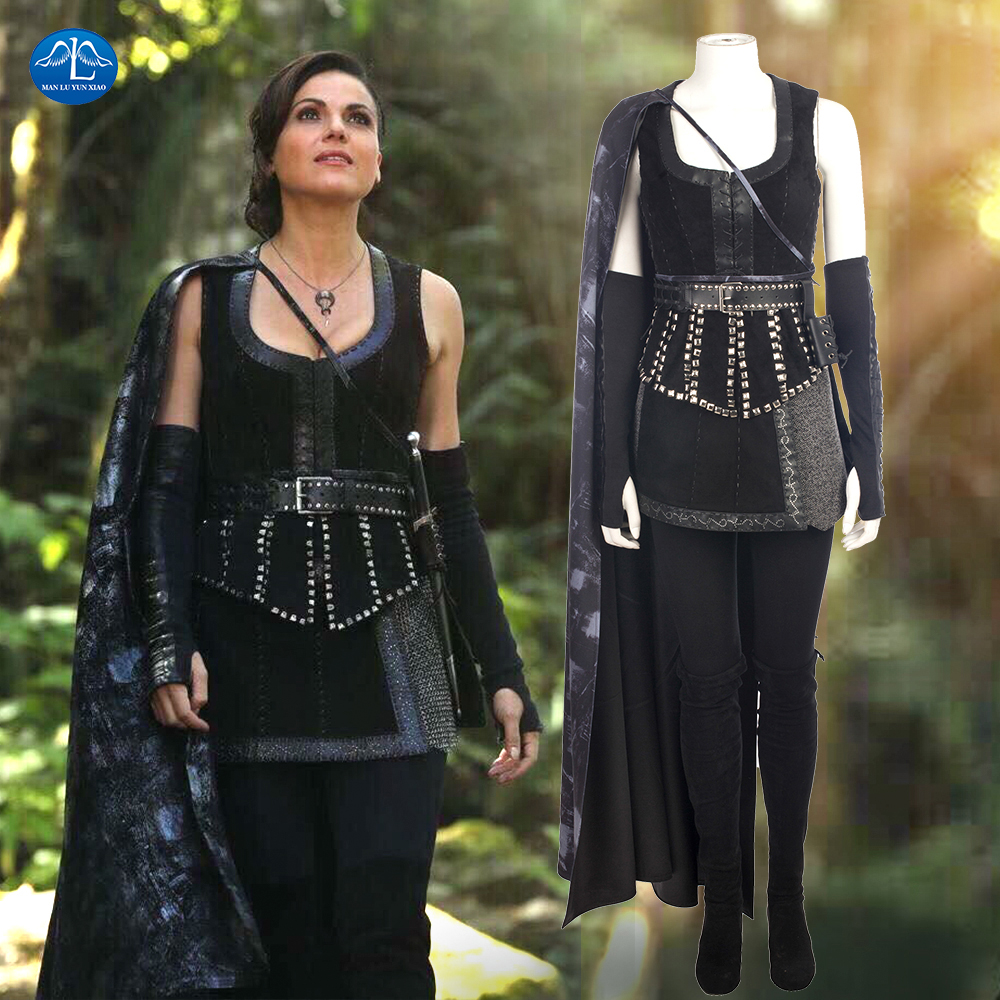 Once Upon a Time Cosplay Costume Women Outfit Evil Queen Regina Mills Cosplay Costume Halloween Costumes For Women Custom Made