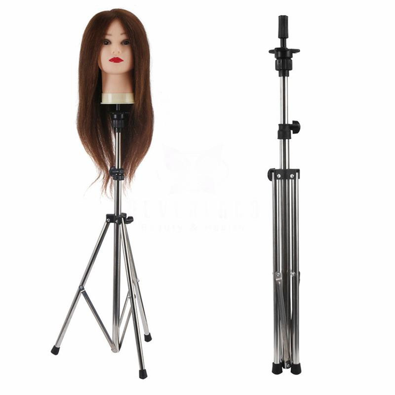 Adjustable Wig Stand Mannequin Head Hairdressing Tripod for Wigs D0223