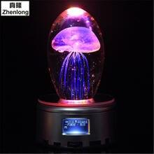 Стеклянная лампа в виде медузы 3d светильник ночник с музыкой