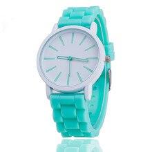 Модные женские Женева Водонепроницаемый Для женщин кварцевые часы женская одежда Пластик часы для девочек элегантные часы Relogio feminino
