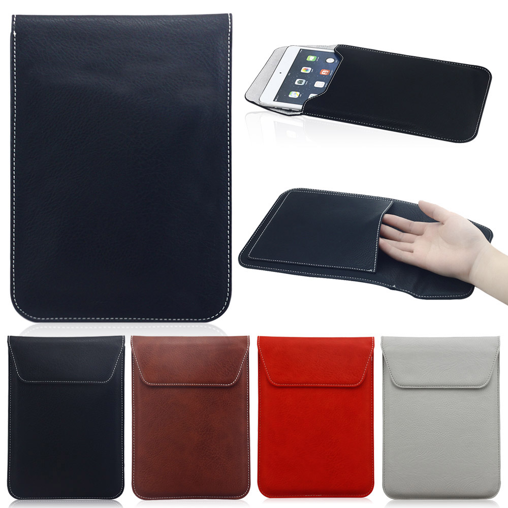 High Quality Ultra thin 10 inch Laptop Sleeve Bag Leather Case For iPad 2 3 4 For SamSun ...
