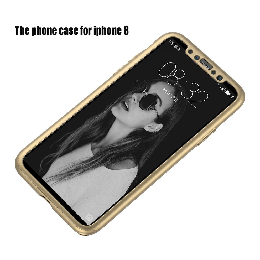 8 Pcs All Inclusive Protected Phone Case Solid Polish