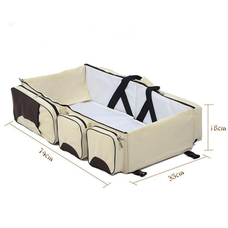 3 в 1 для Портативный кроватку, пеленки мешок Путешествия подгузник Мумия сумка коляска Сумки складной кроватки Складная Открытый Crip