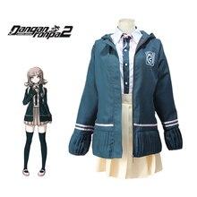Fantasia de cosplay de nanami chiaki danganronpa 2, uniforme escolar para meninas, marinheiro, japonês, anime, halloween