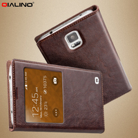 For Samsung Galaxy S5 Case High Quality QIALINO Sensitive Touch Glass Smart Flip Case Cover For