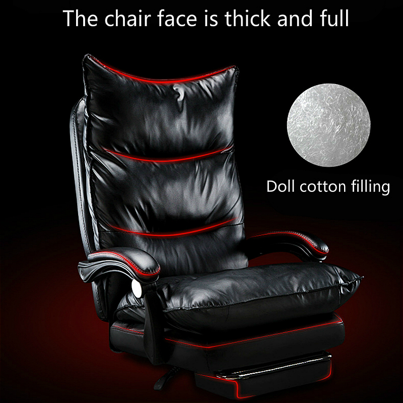 Office Boss Chair Lifted Rotated Multi-function Massage Computer Chair Household PU Reclining Swivel Chair with Footrest