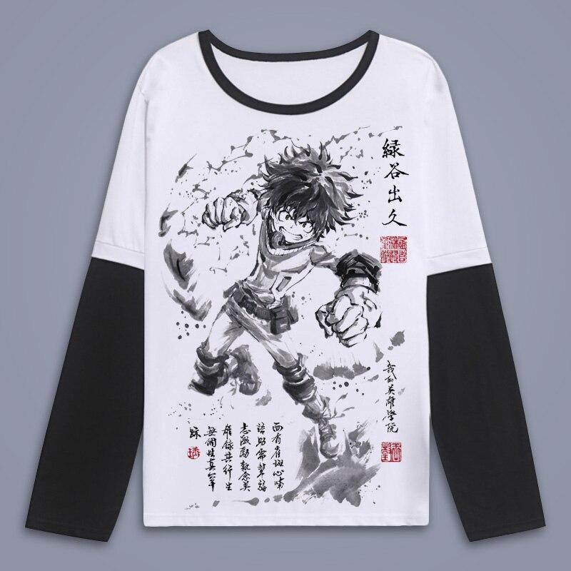 New Unisex Boku No Hero 2019 T Shirt My Hero Academia T-Shirt Unisex Long Sleeve T-shirt