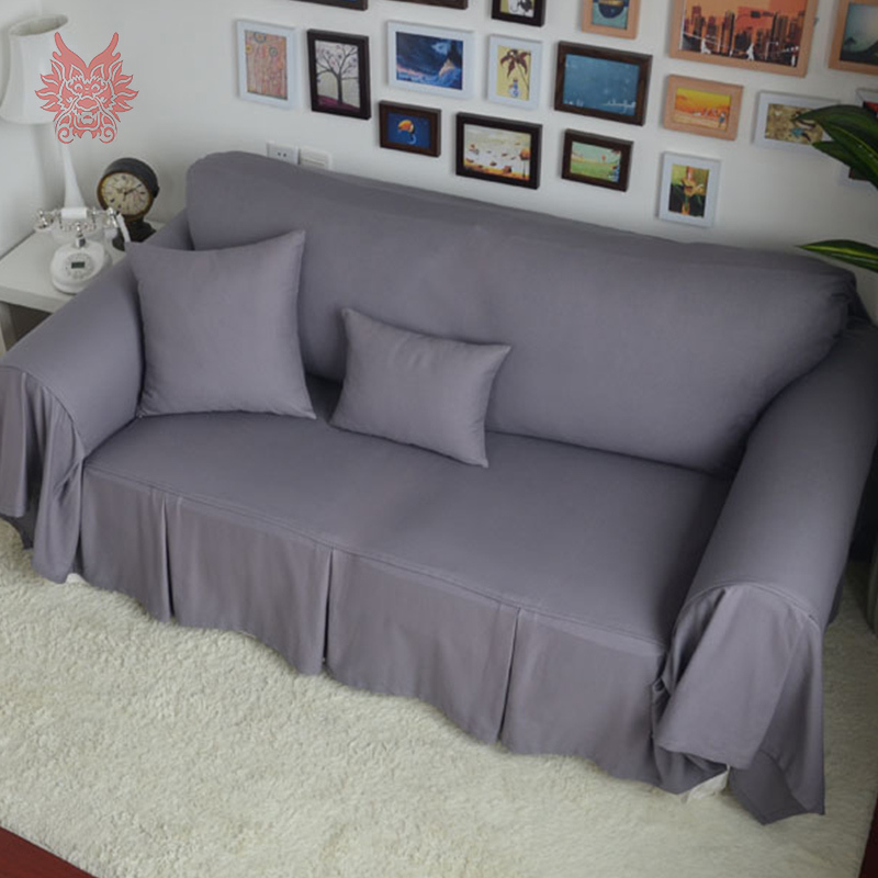 200 280cm 2015 new fashion grey red solid home textile 100 cotton sofa cover modern style sofa. Black Bedroom Furniture Sets. Home Design Ideas