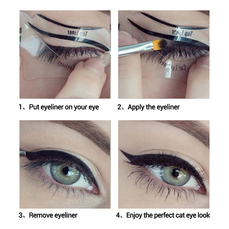 10pcs Eyeliner Stencil Kit Model for Eyebrows guide template Shaping Maquiagem eye shadow frames card makeup tools