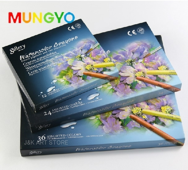 mungyo gallery watercolor crayons for professional artists water