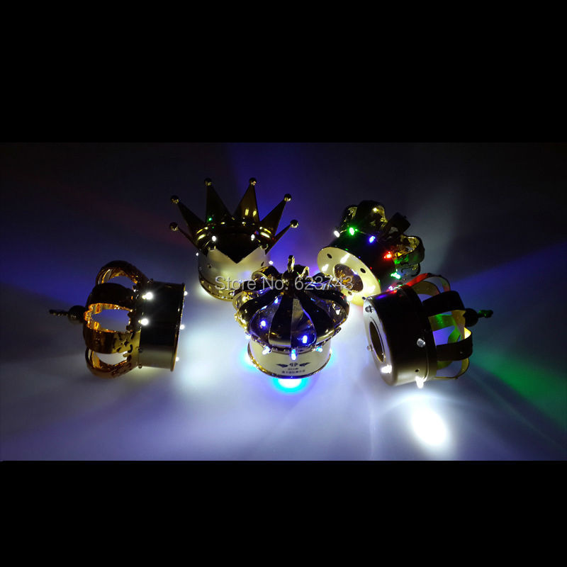 8Pcs/Lot Colorful LED illuminated Champagne Crown of Cold Fireworks Replacement Luminous Crown Head LED Night light Wine holder